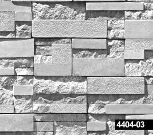 Gri tonlu taş desenli duvar kağıdı 4404-03
